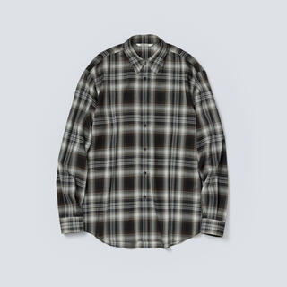 ワンエルディーケーセレクト(1LDK SELECT)のAURALEE 21AW ウールチェックシャツ ブラック サイズ4 新品未使用(シャツ)