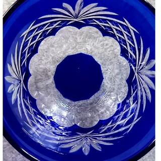 東洋佐々木ガラス - 【最最最終価格!週末限定/極上美品!/藍色切子グラス】冷茶グラス ペア