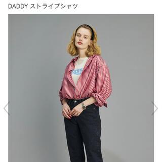 シンゾーン(Shinzone)の美品2021SS シンゾーン   daddyストライプ シャツ(シャツ/ブラウス(長袖/七分))