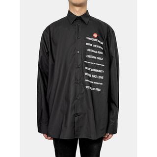 ラフシモンズ(RAF SIMONS)の【美品】RAF SIMONS  Patched boxy fit shirt(シャツ)