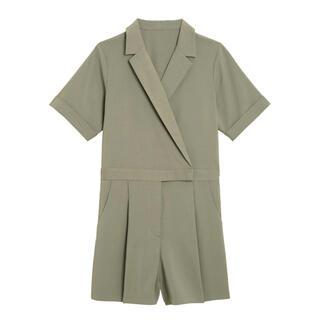 ジーユー(GU)のgu サファリジャンプスーツ(半袖)Y+E(オールインワン)
