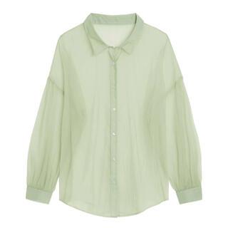 ジーユー(GU)のシアーボリュームスリーブシャツ(長袖)Y+E(シャツ/ブラウス(長袖/七分))
