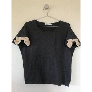 クチュールブローチ(Couture Brooch)のグレートップス⭐︎袖にリボンのワンポイント(カットソー(半袖/袖なし))