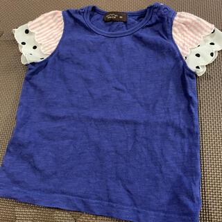 ユニカ(UNICA)のユニカ unica フリルドット tシャツ 90㎝(Tシャツ/カットソー)