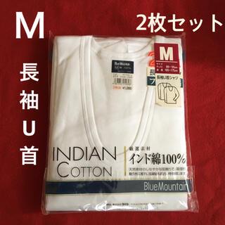 長袖U首シャツ Mサイズ 2枚セット(その他)