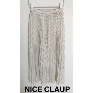NICE CLAUP - ナイスクラップ ドット プリーツスカート