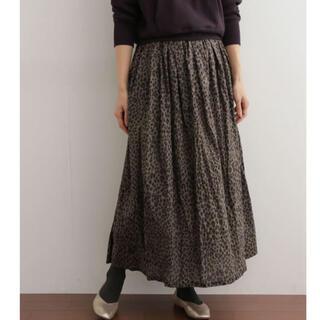 ドアーズ(DOORS / URBAN RESEARCH)のDOORS mizuiro-ind 別注leopard skirt(ロングスカート)