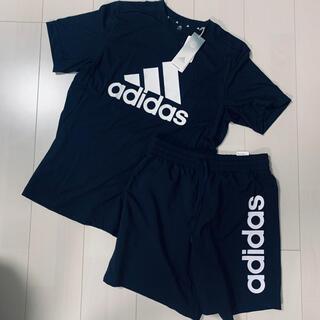 adidas - 新品アディダス Tシャツ ハーフパンツ 上下セット ブラック Lサイズ
