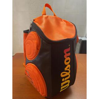 ウィルソン(wilson)のウイルソン ラケットバッグ リュック ブラック×オレンジ(その他)