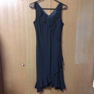 エージー(AG)のA・G フォーマル ドレス ワンピース ブラック サイズ38(ロングドレス)