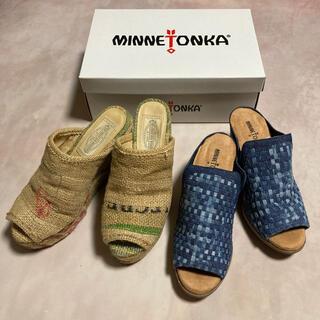 ゴア(goa)のgoa 新品未使用チャンキーヒール 編みサンダル MONA & ジュートサボ (サンダル)