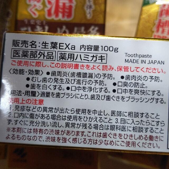 小林製薬(コバヤシセイヤク)の小林製薬 生葉EX  100g コスメ/美容のオーラルケア(歯磨き粉)の商品写真