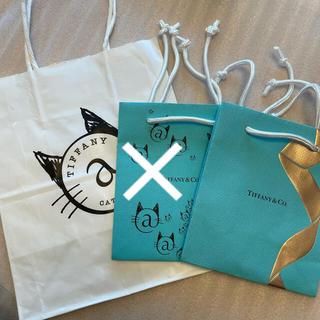 ティファニー(Tiffany & Co.)の【限定・未使用品】ティファニー 紙袋 キャットストリート カフェ クリスマス(ショップ袋)