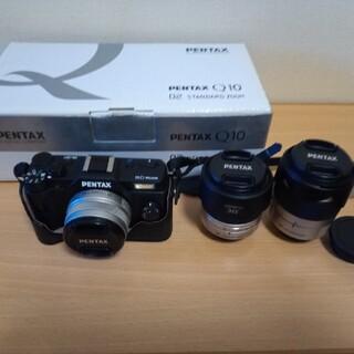 PENTAX - PENTAX Q10 専用皮ケース付き +レンズ3本セット!