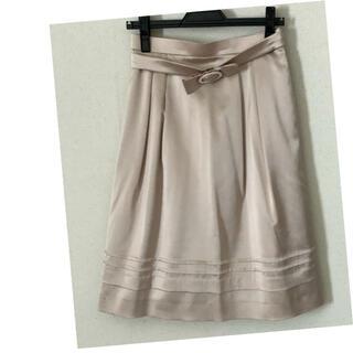 クレージュ(Courreges)のクレージュ  スカート  ベージュ  Mサイズ(ひざ丈スカート)