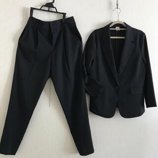 MICHEL KLEIN - MICHEL  CLEIN  サマースーツ   ブラック サイズ38