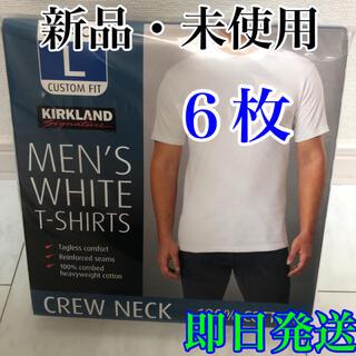 コストコ(コストコ)のKIRKLAND カークランド メンズ 白Tシャツ 合計6枚 Lサイズ(Tシャツ/カットソー(半袖/袖なし))