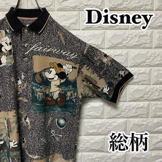 ディズニー(Disney)の【Disney】レアデザイン 総柄ポロシャツ GOLF ディズニー(ポロシャツ)