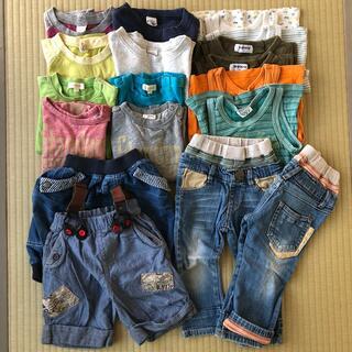 JUNK STORE - 【お値下げ】90cm 他 夏物子供服18枚セットまとめ Tシャツ 双子ちゃんに♪