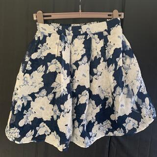 オリーブデオリーブ(OLIVEdesOLIVE)のフレアスカート 花柄スカート(ひざ丈スカート)
