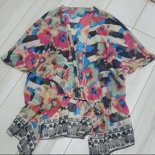 ルシェルブルー(LE CIEL BLEU)のLECIELBLEUプリントトップス 羽織り型(シャツ/ブラウス(半袖/袖なし))