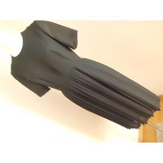 上質夏用喪服★9ARソシアルSOCIALブラックフォーマル半袖ワンピース20代向(礼服/喪服)