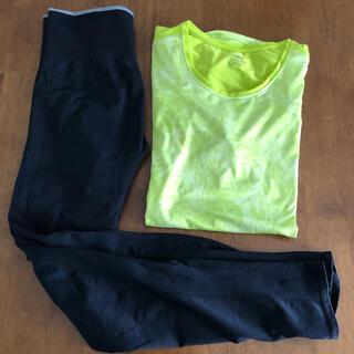 UNIQLO - ロングスパッツ&スポーツシャツ  レディースXL