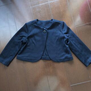 ユニクロ(UNIQLO)のユニクロ 女児 ボレロ 紺 110 未使用(ジャケット/上着)
