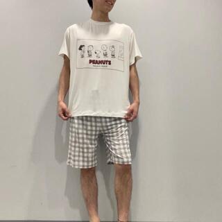 gelato pique - 【HOMME】【SNOOPY】ワンポイントTシャツ&ハーフパンツSET