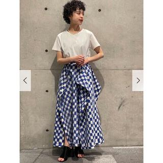 mame - yohei ohno チェックスカート