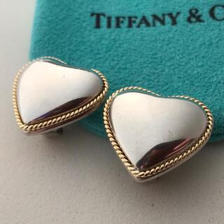 Tiffany & Co. - Tiffany ヴィンテージコンビハートイヤリング 希少