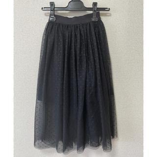 GU - GU⭐︎プリーツスカート チュールスカート 黒/ブラック