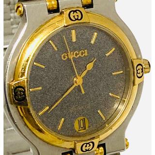 Gucci - 美品! GUCCI メンズ腕時計 ブラック×ゴールド コンビカラー