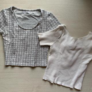 リゼクシー(RESEXXY)のクロップド丈バックシャントップス2点セット(Tシャツ(半袖/袖なし))