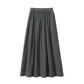 洗いざらし強撚ギャザースカート (ロングスカート)