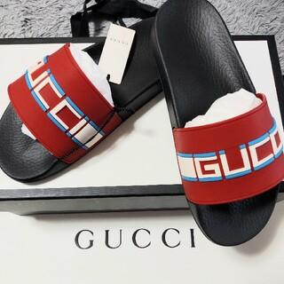 グッチ(Gucci)のグッチ ロゴ シャワー サンダル バレンシアガ ジバンシー モンクレール プラダ(サンダル)