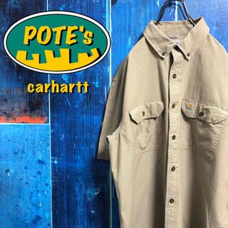 carhartt - 【カーハート】ロゴタグ入りフラップ付きダブルポケット半袖ワークシャツ