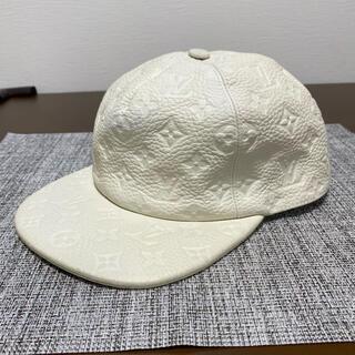 ルイヴィトン(LOUIS VUITTON)のルイヴィトン キャップ 帽子 クロムハーツ レザー デニム ダウン ジャケット(キャップ)