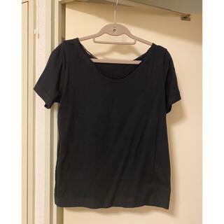 アズノウアズ(AS KNOW AS)のAS KNOW AS アズノゥアズ Tシャツ カットソー 半袖 ブラック 黒(Tシャツ(半袖/袖なし))