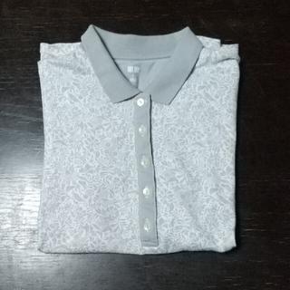ユニクロ(UNIQLO)のユニクロ ポロシャツ レディース 花柄(ポロシャツ)