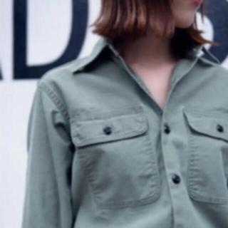マディソンブルー(MADISONBLUE)のマディソンブルー  ワークシャツ ハンプトン バックサテン   カーキ (シャツ/ブラウス(長袖/七分))