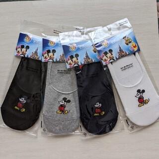 ディズニー(Disney)のmickeyフットカバー4足セット(ソックス)