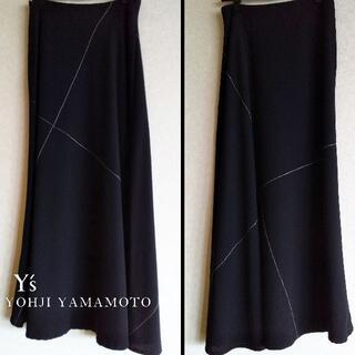 ヨウジヤマモト(Yohji Yamamoto)のYohji Yamamoto ヨウジヤマモト/Y's ステッチスカート(ロングスカート)