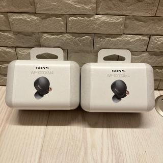 ソニー(SONY)の【新品】SONY WF-1000XM4 BM ワイヤレスイヤホン ブラック 2個(ヘッドフォン/イヤフォン)