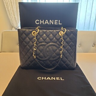 CHANEL - CHANEL キャビアスキン トート バック 鞄