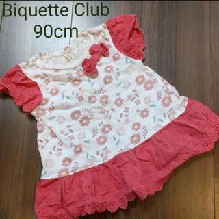 ビケットクラブ(Biquette Club)のBiquette Club 90cm 花柄半袖Tシャツ(Tシャツ/カットソー)