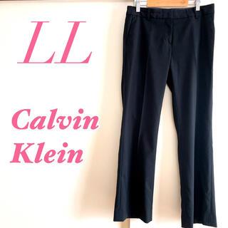 カルバンクライン(Calvin Klein)のCalvin Klein カルバンクライン パンツ ストライプ 上品 ブラック(カジュアルパンツ)