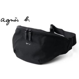 agnes b. - アニエスベー  ウエストポーチ ボディバッグ ブラック agnes.