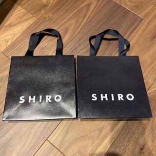シロ(shiro)のshiro 紙袋 ×2(ショップ袋)