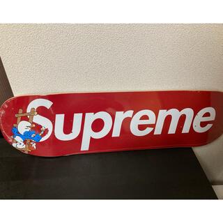 シュプリーム(Supreme)のSupreme 20aw Smurfs Skateboard レッド(スケートボード)